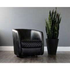 Swivel Club Chair Swing Lebanon Shop Sunpan 5west Dax Faux Leather Steel Free