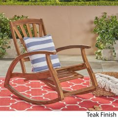 Rocking Chair Footrest Eames Lounge Used Design Shop Sunview Outdoor Acacia With By Christopher Knight Home On Sale Free Shipping Today Overstock Com 22048063