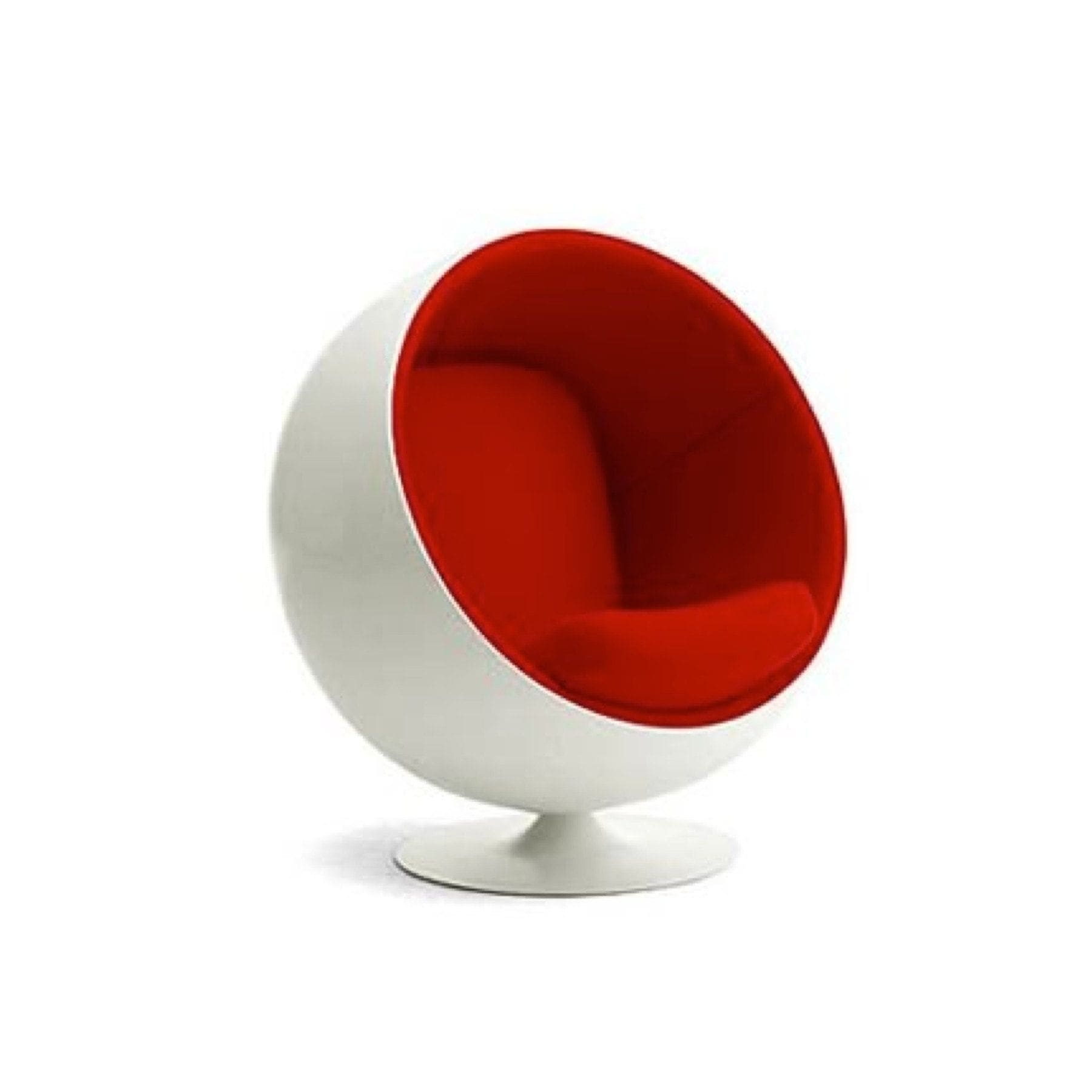 modern ball lounge chair christmas decorations shop white shell mid century free shipping today overstock com 22080018