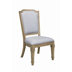 Gray Upholstered Dining Chairs Fabric Room Uk Shop Coaster Florence Grey Chair Set Of 2