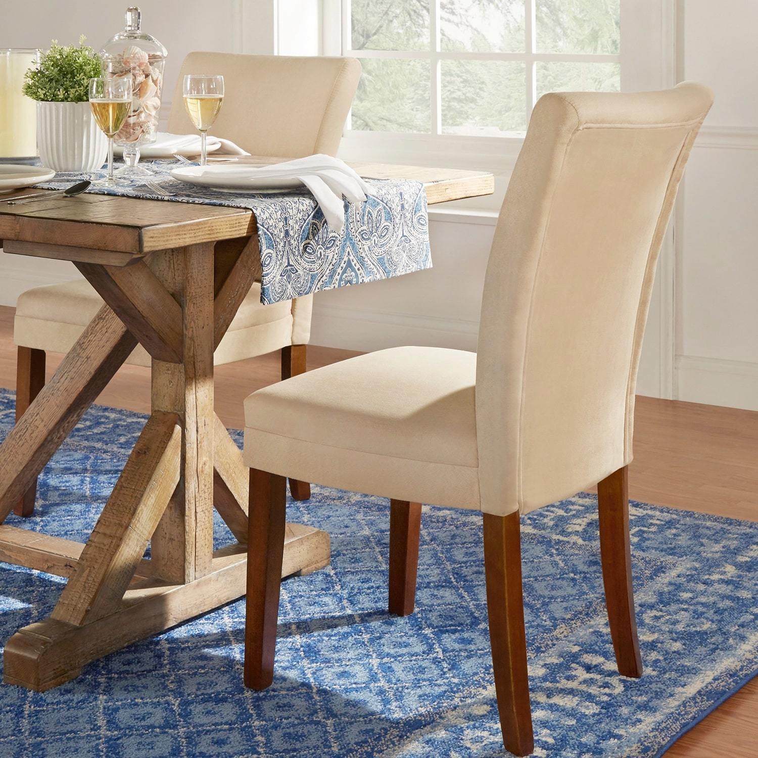 Dining Chair Set Of 2 Parson Classic Upholstered Dining Chair Set Of 2 By Inspire Q Bold