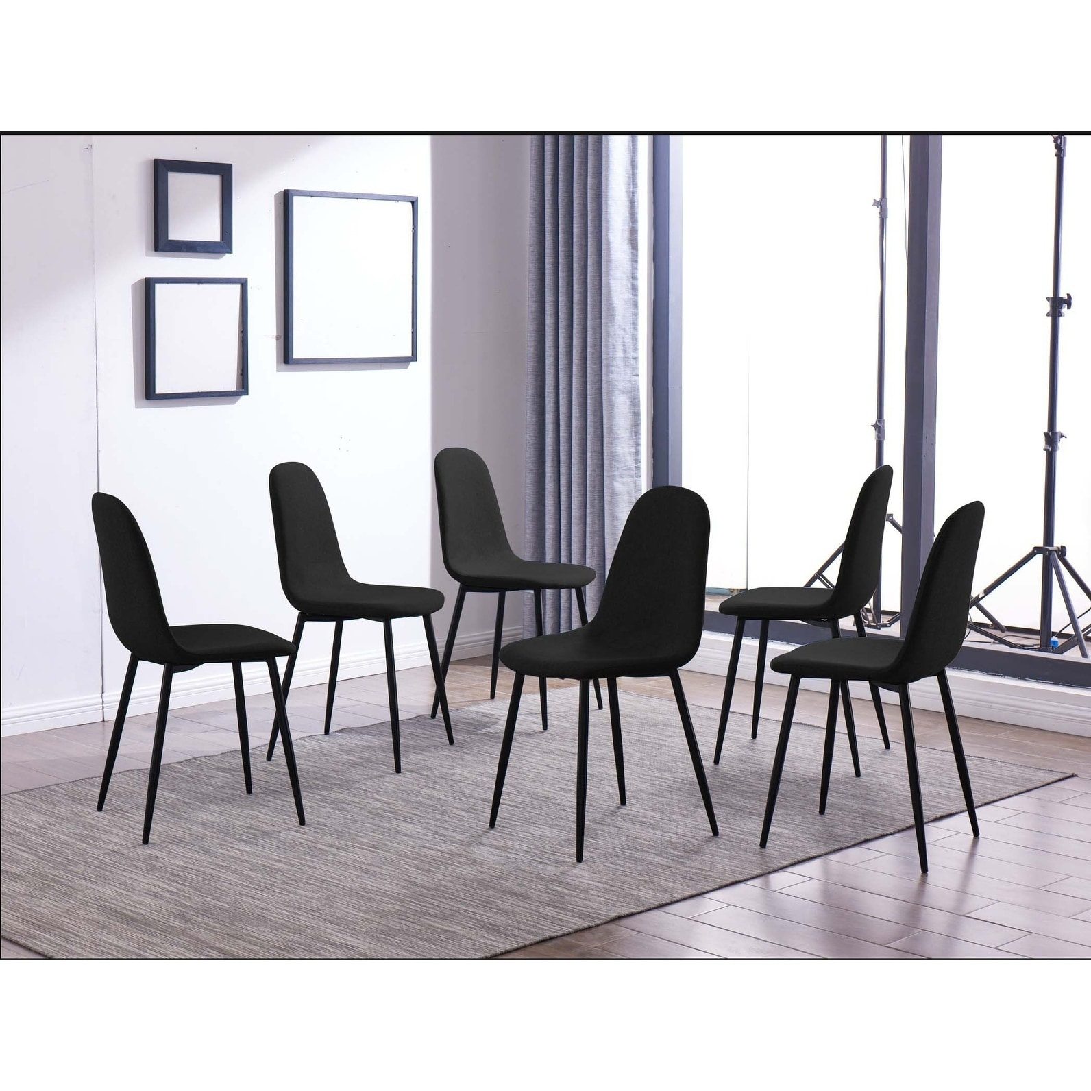 Dining Chair Set Of 6 Ids Online 6 Pieces Dining Chair Set One Size Gray