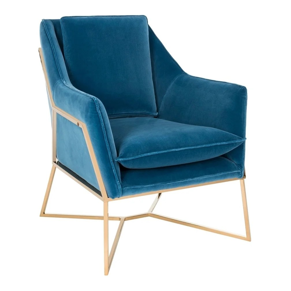 Royal Blue Chair Safavieh Couture Evrex Giotto Royal Blue Velvet Commercial Grade Club Chair