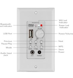 shop pyle pwa25wifibt in wall wi fi wireless audio control bluetooth wall plate switch receiver aux 3 5mm input white free shipping today  [ 1000 x 1000 Pixel ]