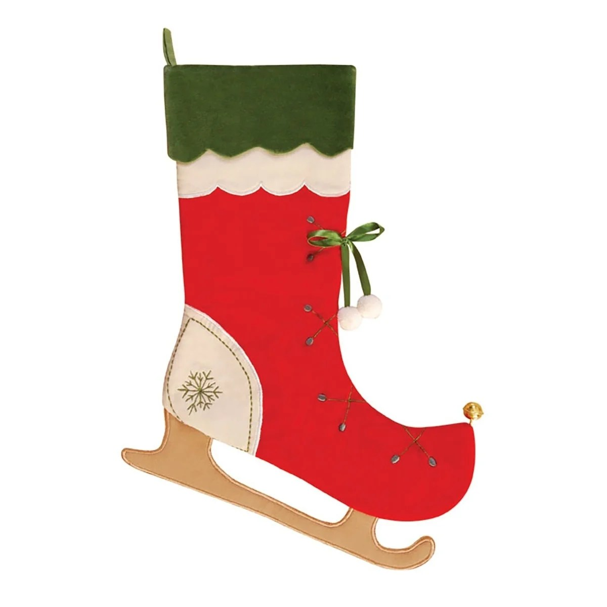 jolly skates embroidered christmas