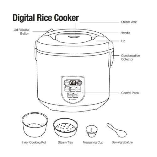 small resolution of shop continental electric pro 20 cup digital rice cooker stainless steel free shipping today overstock 22544912
