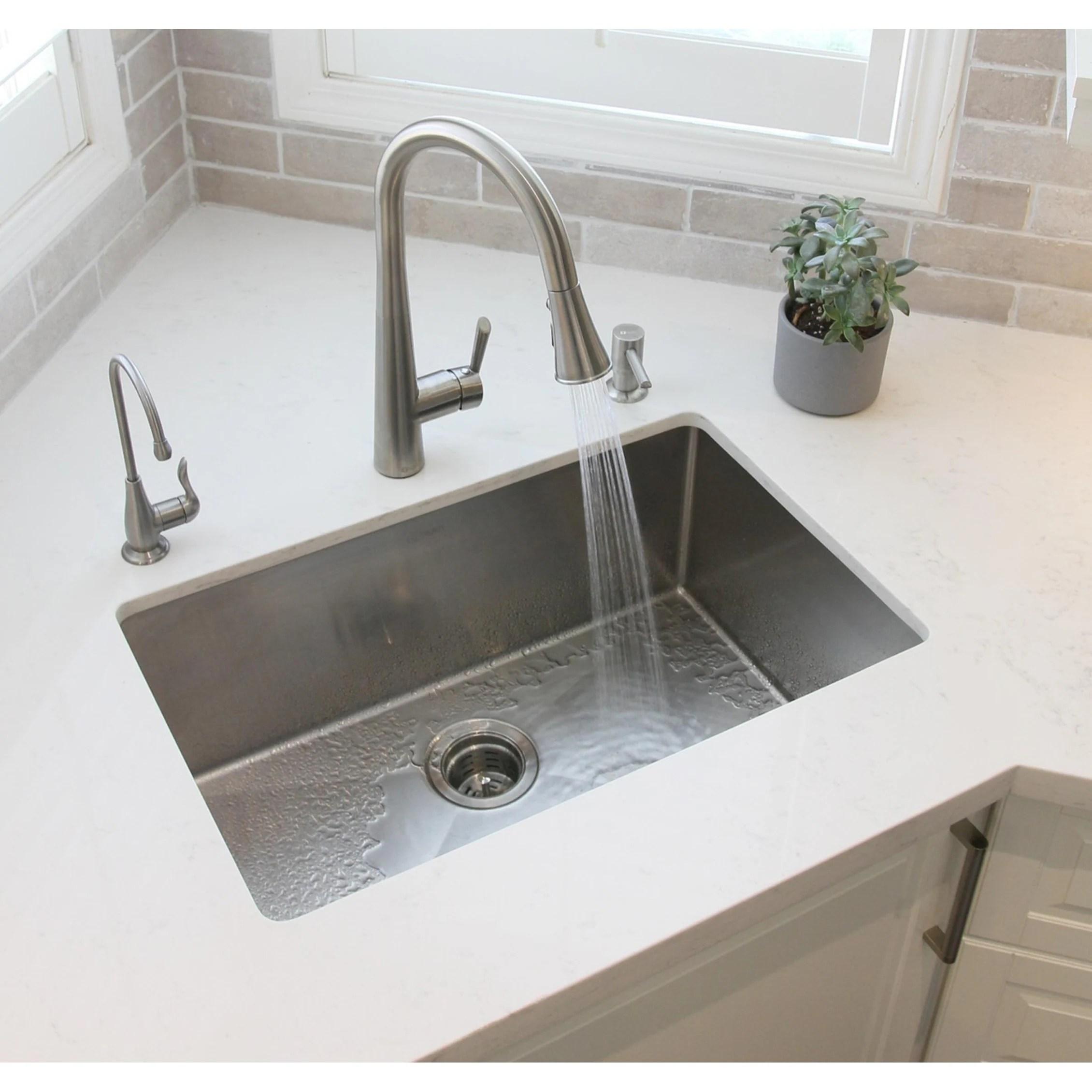 undermount single bowl kitchen sink cabinets discount shop 28 18g stainless steel s 306 x 18 10