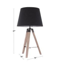 compass mid century modern tripod table lamp [ 3000 x 3000 Pixel ]