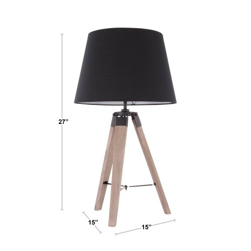small resolution of compass mid century modern tripod table lamp