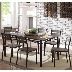 Farmhouse Table And Chairs With Bench Beach Chair Bike Rack Shop Furniture Of America Patton 7 Piece Rustic Modern Dining Set On Sale Free Shipping Today Overstock Com 22671341