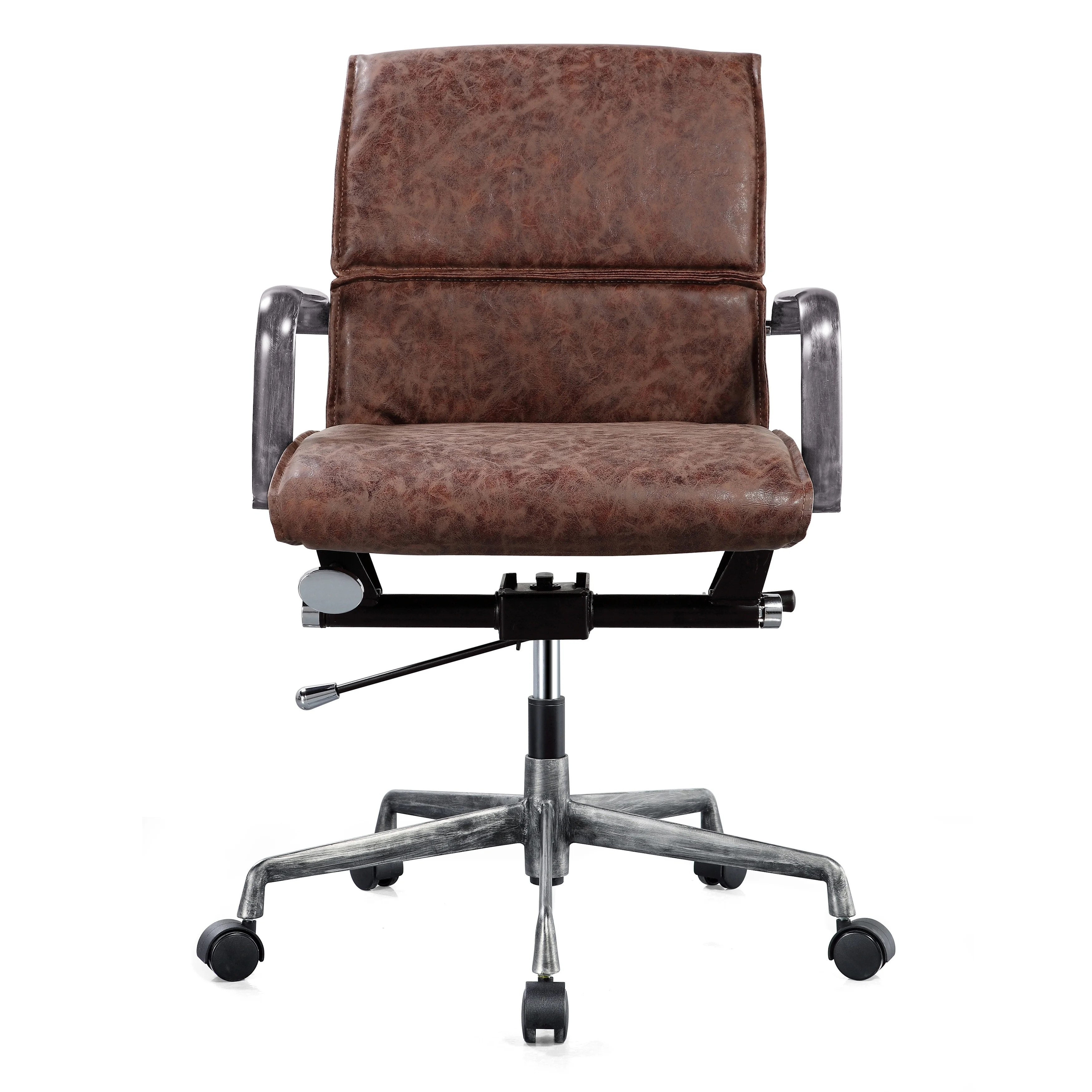 distressed leather desk chair cheap deck chairs shop m330 padded vegan office on sale free shipping today overstock com 22700428