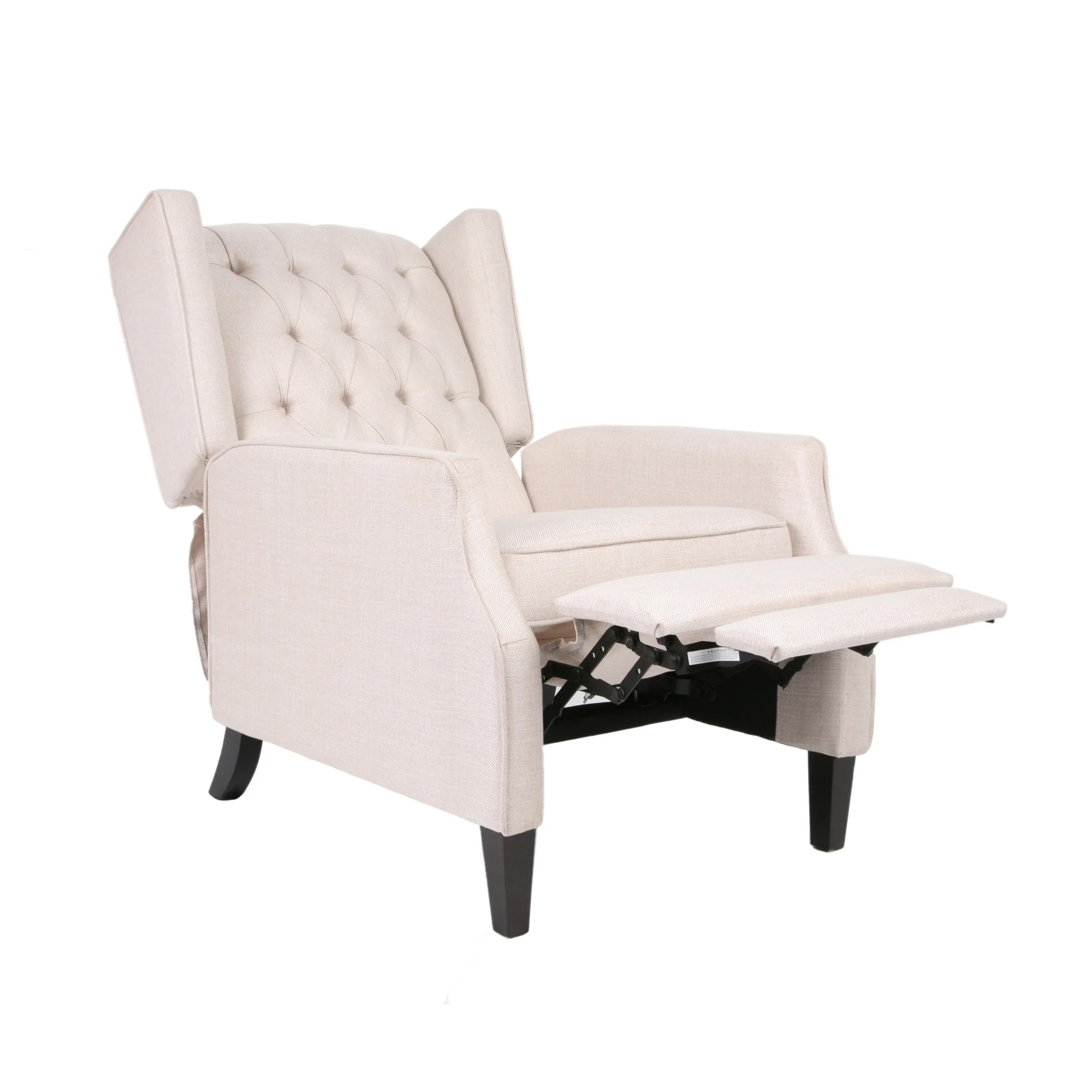 Wingback Recliner Chair Keating Traditional Wingback Recliner By Christopher Knight Home