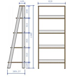 shop porch den gilham 55 inch grey wood ladder bookshelf on sale free shipping today overstock 22801627 [ 1728 x 1728 Pixel ]