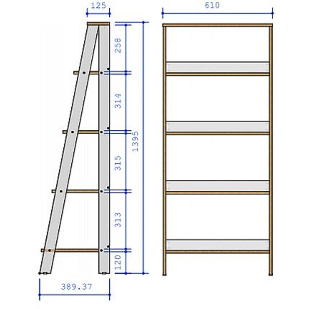 medium resolution of shop porch den gilham 55 inch grey wood ladder bookshelf on sale free shipping today overstock 22801627