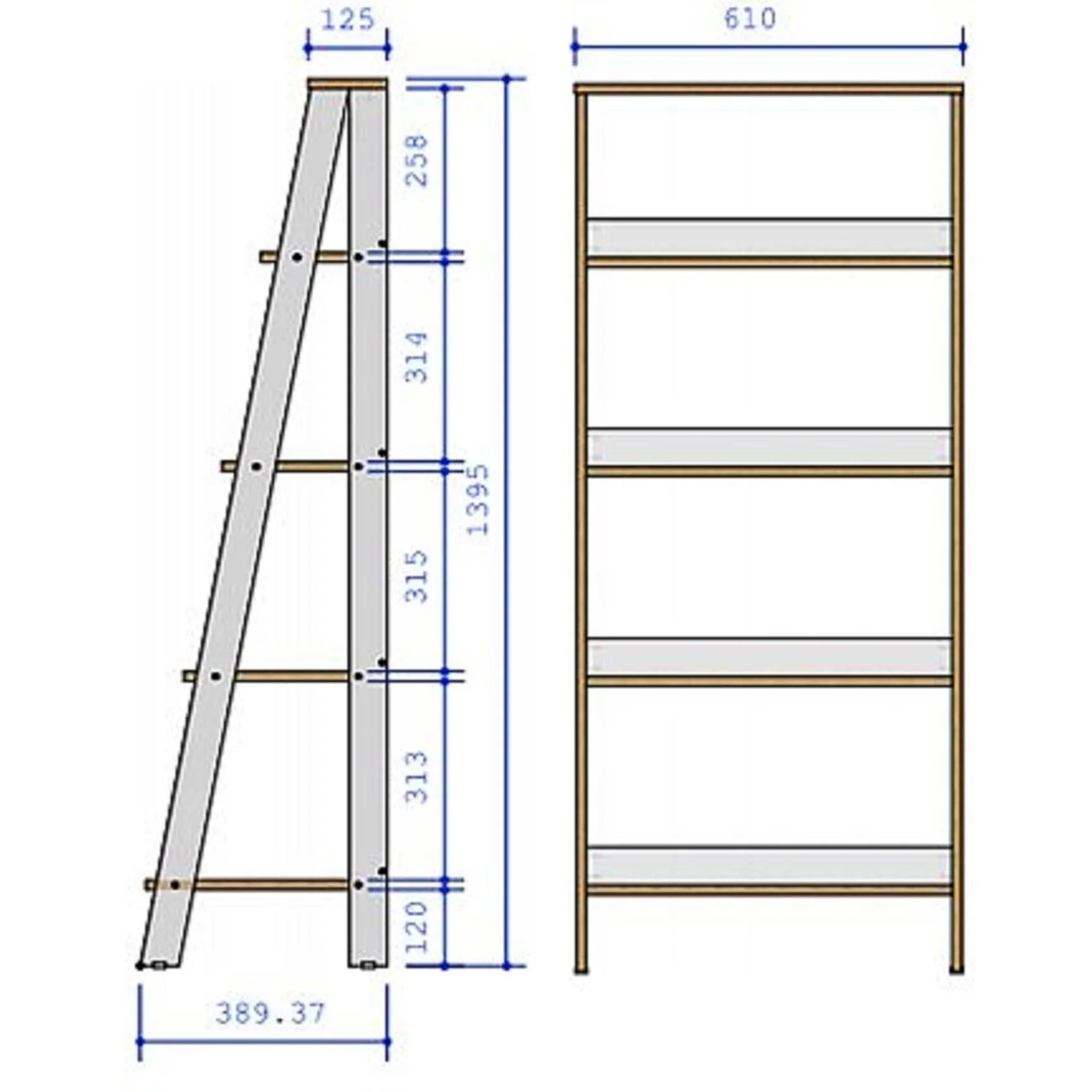 hight resolution of shop porch den gilham 55 inch grey wood ladder bookshelf on sale free shipping today overstock 22801627