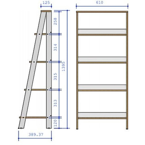 small resolution of shop porch den gilham 55 inch grey wood ladder bookshelf on sale free shipping today overstock 22801627
