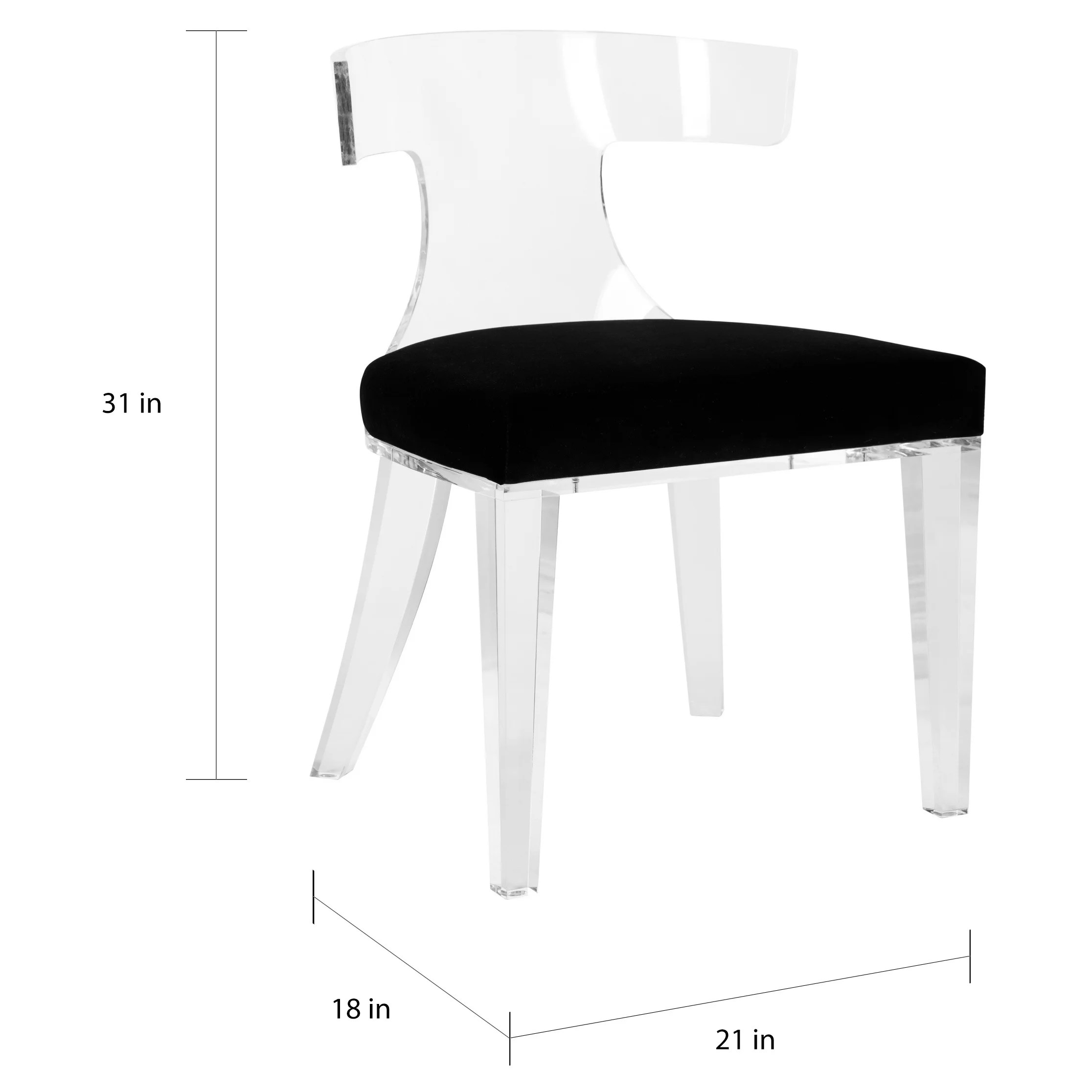 Lucite Chair Safavieh Couture Rhys Lucite Dining Chair Clear Black