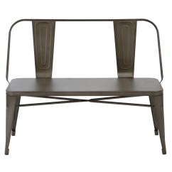 Rustic Metal Dining Chairs Knoll Handkerchief Chair Shop Btexpert Antique Bench Full Back Garden Patio Free Shipping Today Overstock Com 23111584