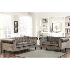 Cheap 2 Piece Living Room Sets Interior Design Trends 2017 Shop Gracewood Hollow Dib Grey Velvet Set On Sale Ships To Canada Overstock 23123013