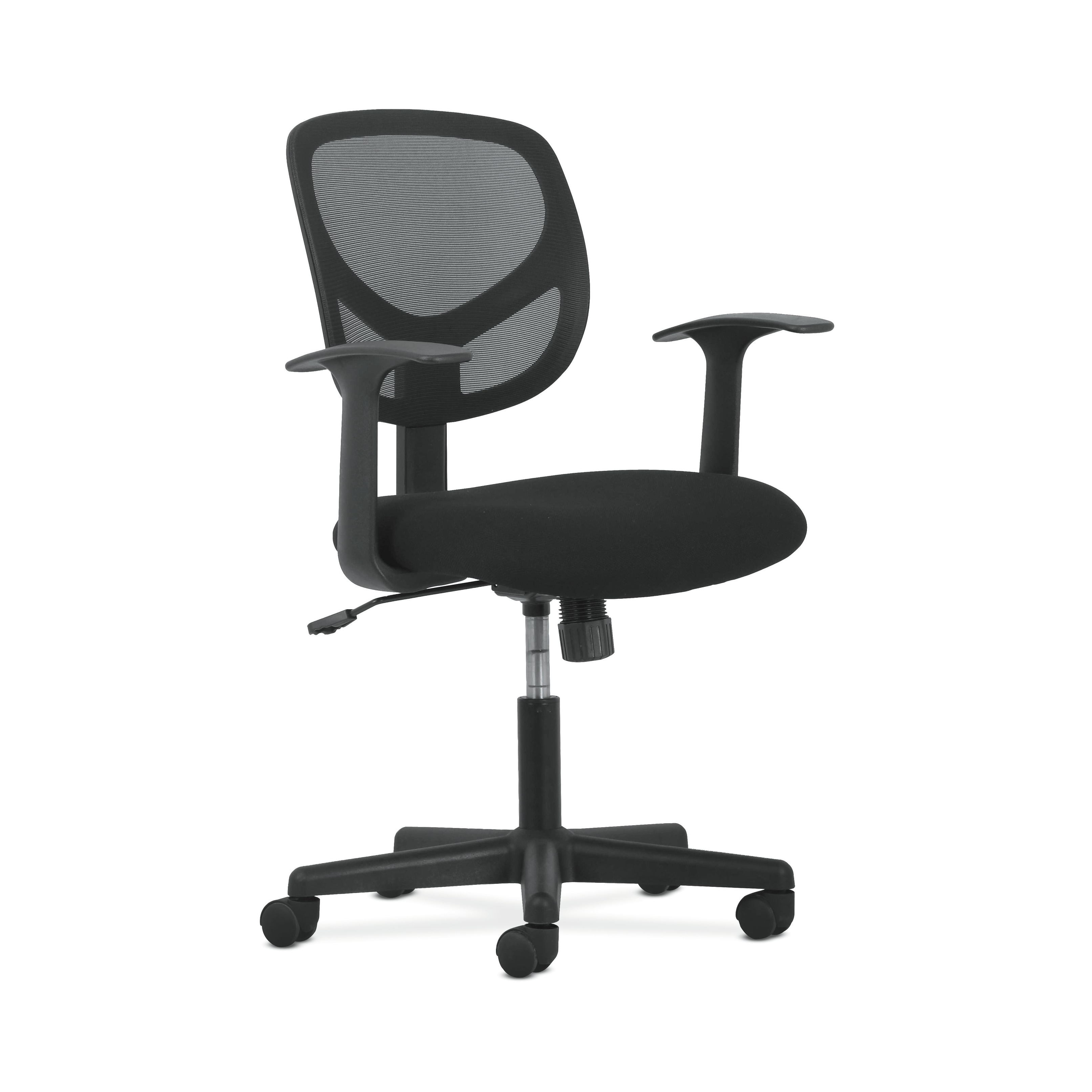 swivel office chair without arms deflecto mats reviews shop sadie mid back mesh task ergonomic computer black bsxvst101 free shipping today overstock com