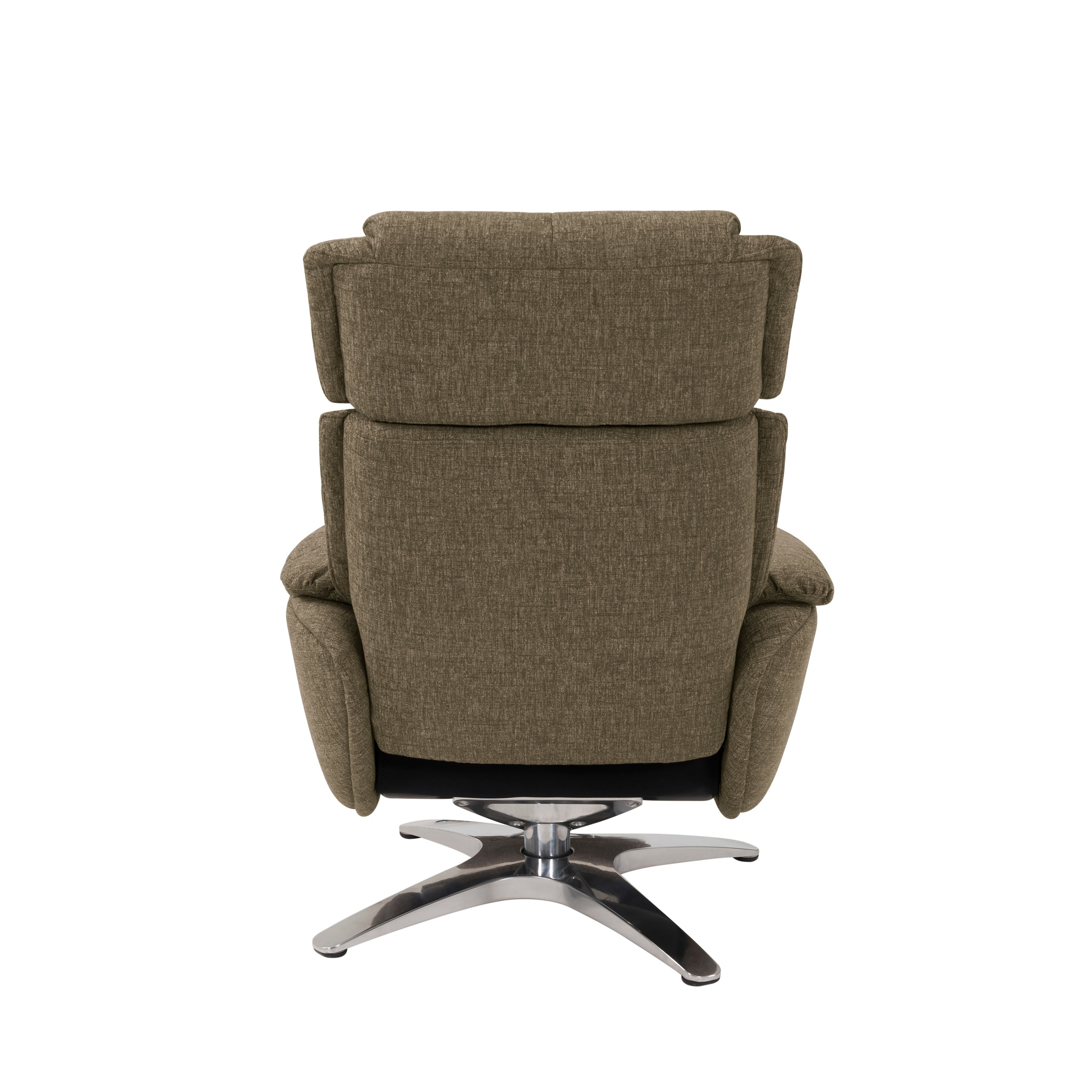 Swivel Recliner Chairs Prolounger Sten Brown Chenille Contemporary Swivel Recliner Chair And Ottoman