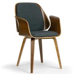 Bentwood Dining Chair Desk Edinburgh Shop Amaya Walnut Finish With Charcoal Fabric Upholstery