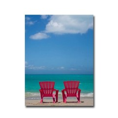 Pink Beach Chair Summer Lounge Chairs Shop 1 By Donald Paulson Gallery Wrapped Canvas Giclee Art On Sale Free Shipping Today Overstock Com 23444303