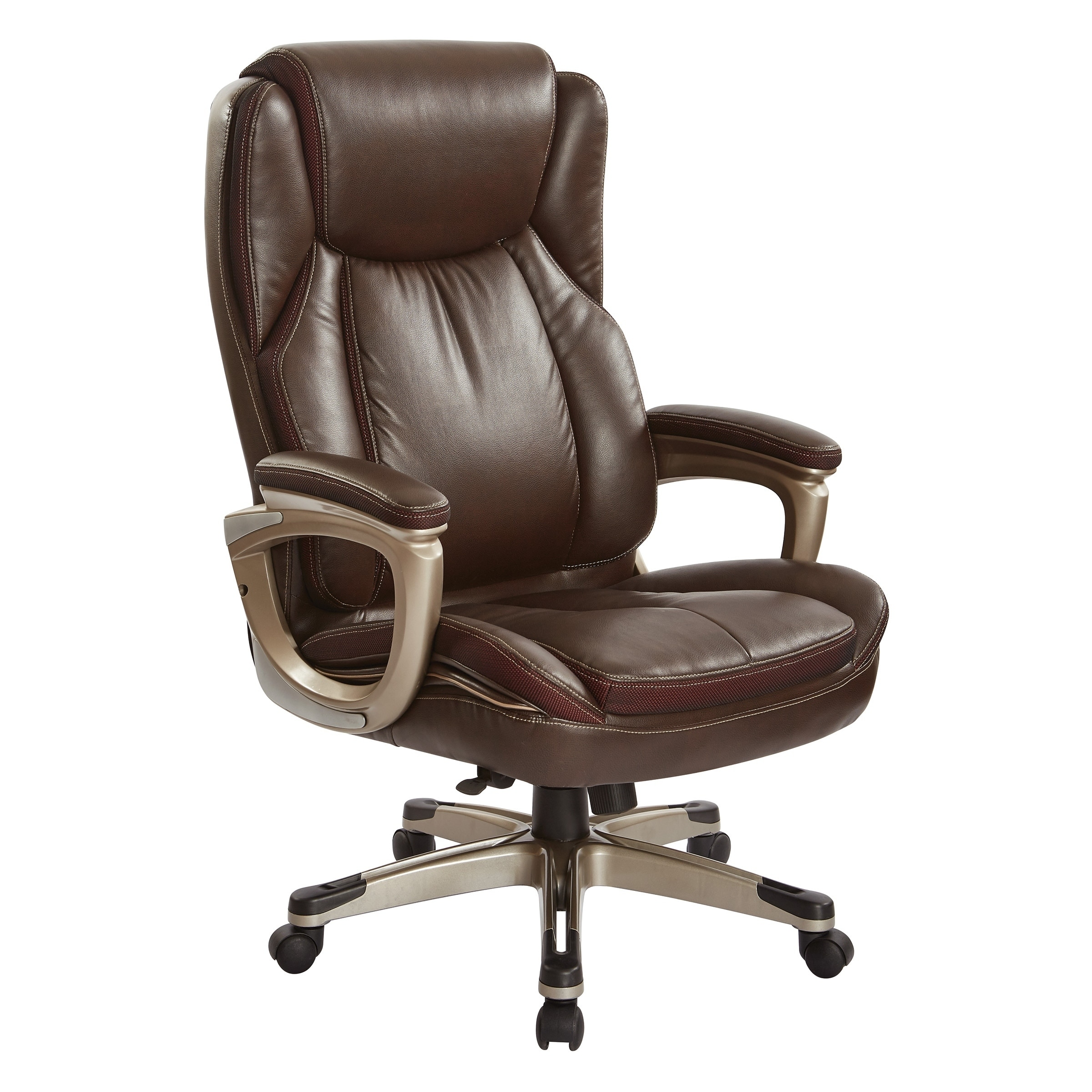 Executive Leather Chair Work Smart Executive Espresso Bonded Leather Chair With Cable Control In A Cocoa Finish