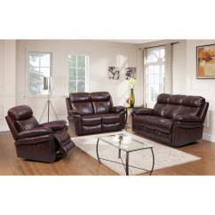 Blue Leather Living Room Sets Simmons Set Shop Hudson Top Grain Power Reclining Brown Red