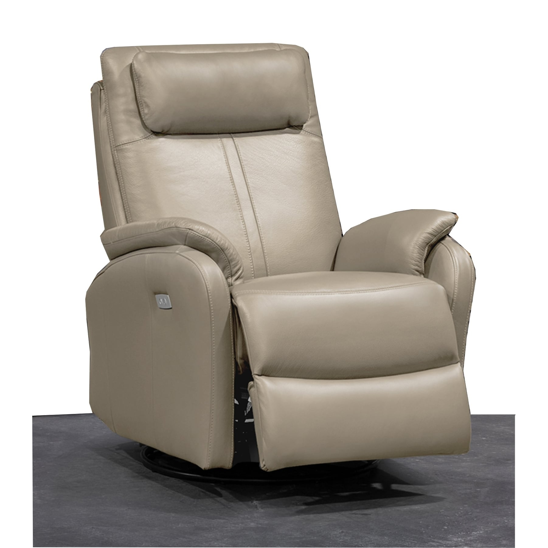 Swivel Rocker Recliner Chair Thalia Contemporary Leather Power Swivel Rocker Recliner