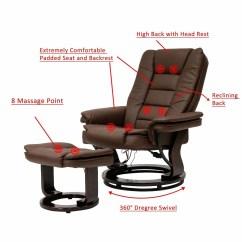 Massage Chair With Heat Hanging Hooks Shop Kinbor 8 Motor Recliner W Ottoman Lumbar Free Shipping Today Overstock Com 24151673