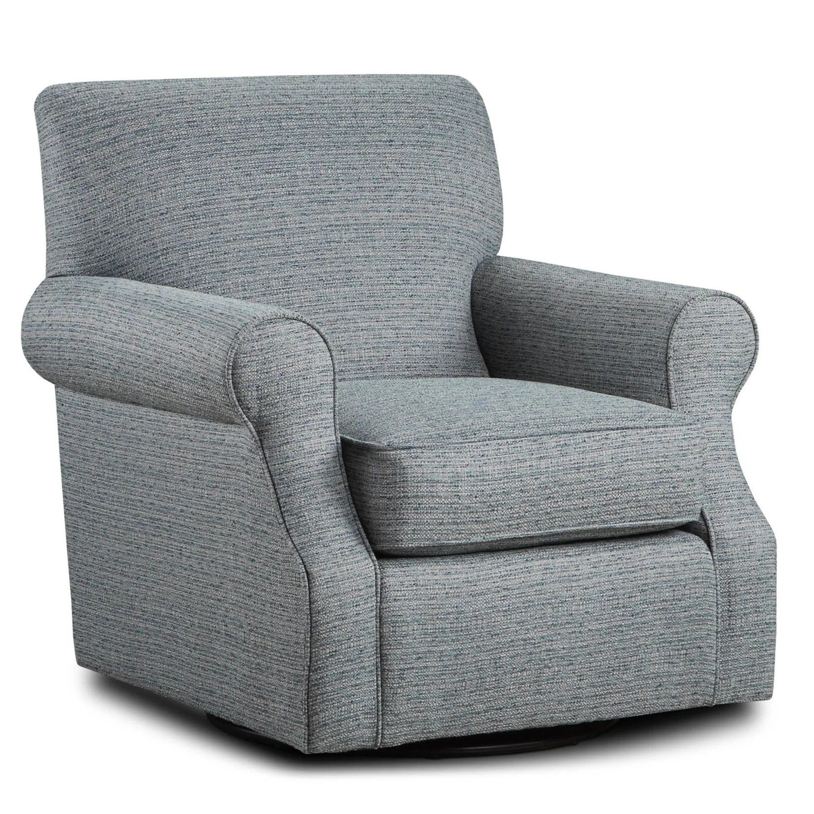 Upholstered Swivel Chairs Branco Teal Fabric Upholstered Swivel Chair