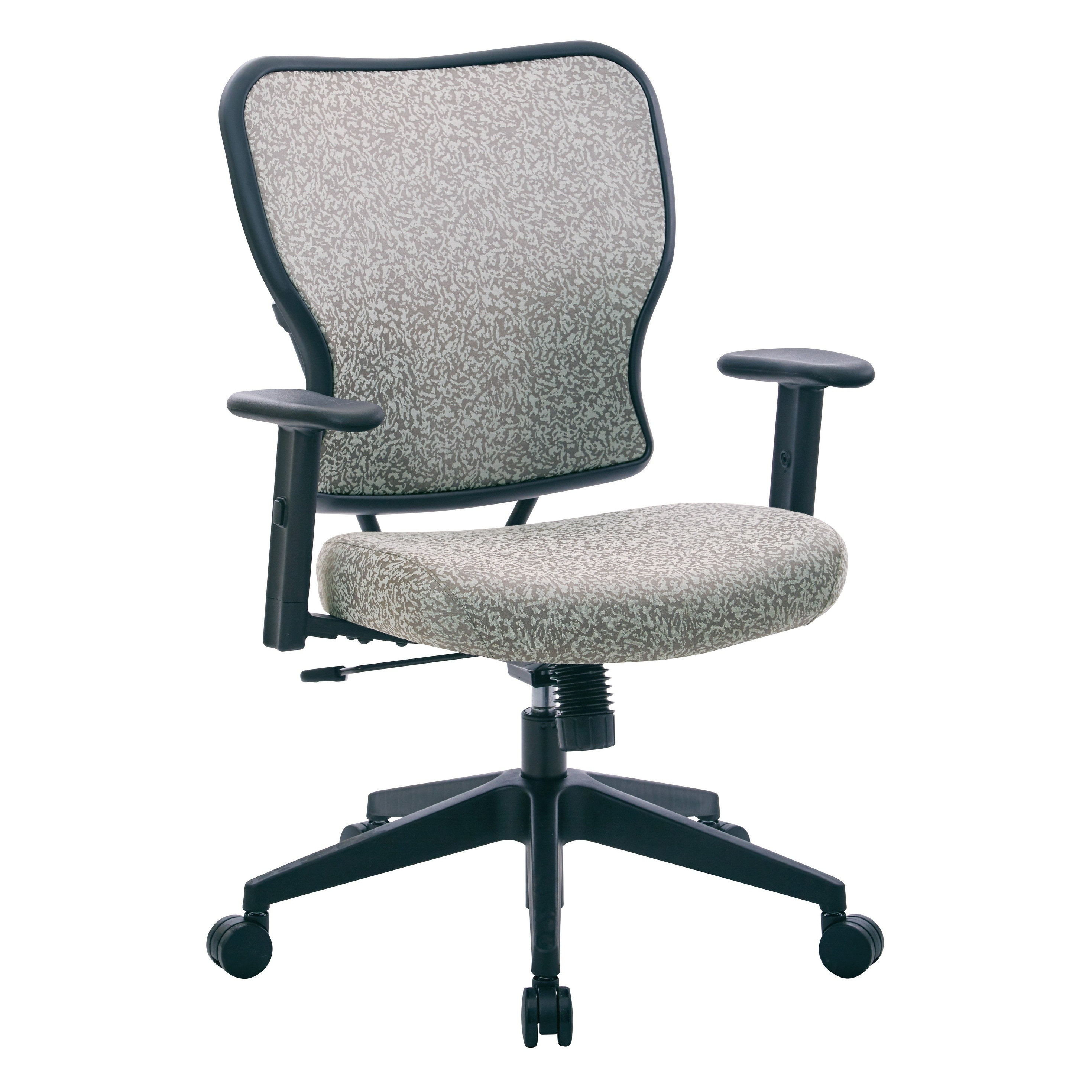 Height Adjustable Chair Space Seating Deluxe Fabric 2 To 1 Mechanical Height Adjustable Arms Chair