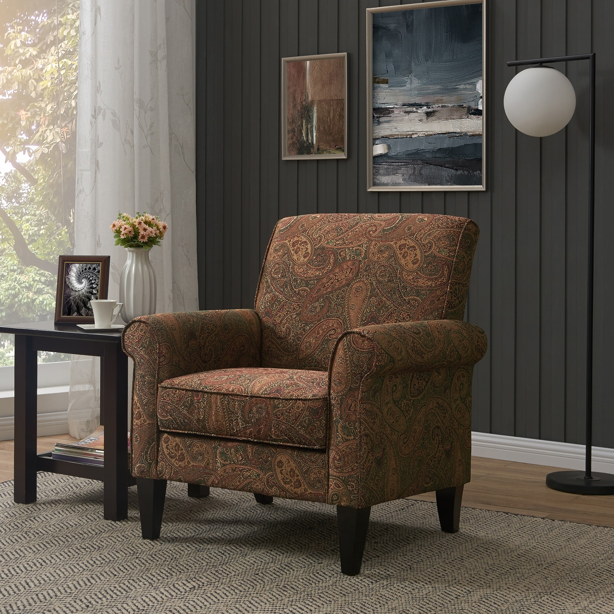 Paisley Chair Copper Grove Herve Paisley Arm Chair