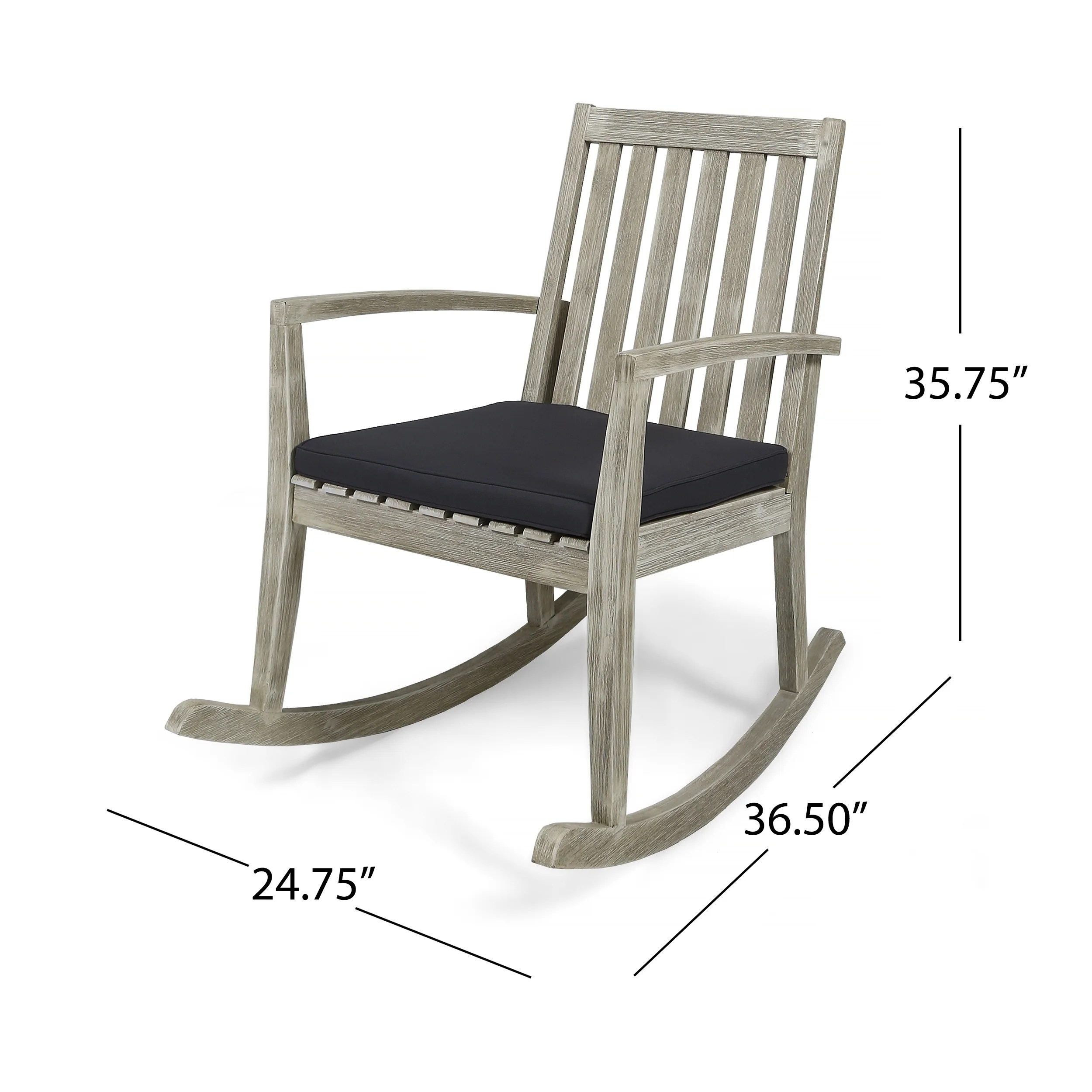 Outdoor Rocking Chair Set Montrose Traditional Outdoor Acacia Wood Rocking Chairs Set Of 2 By Christopher Knight Home
