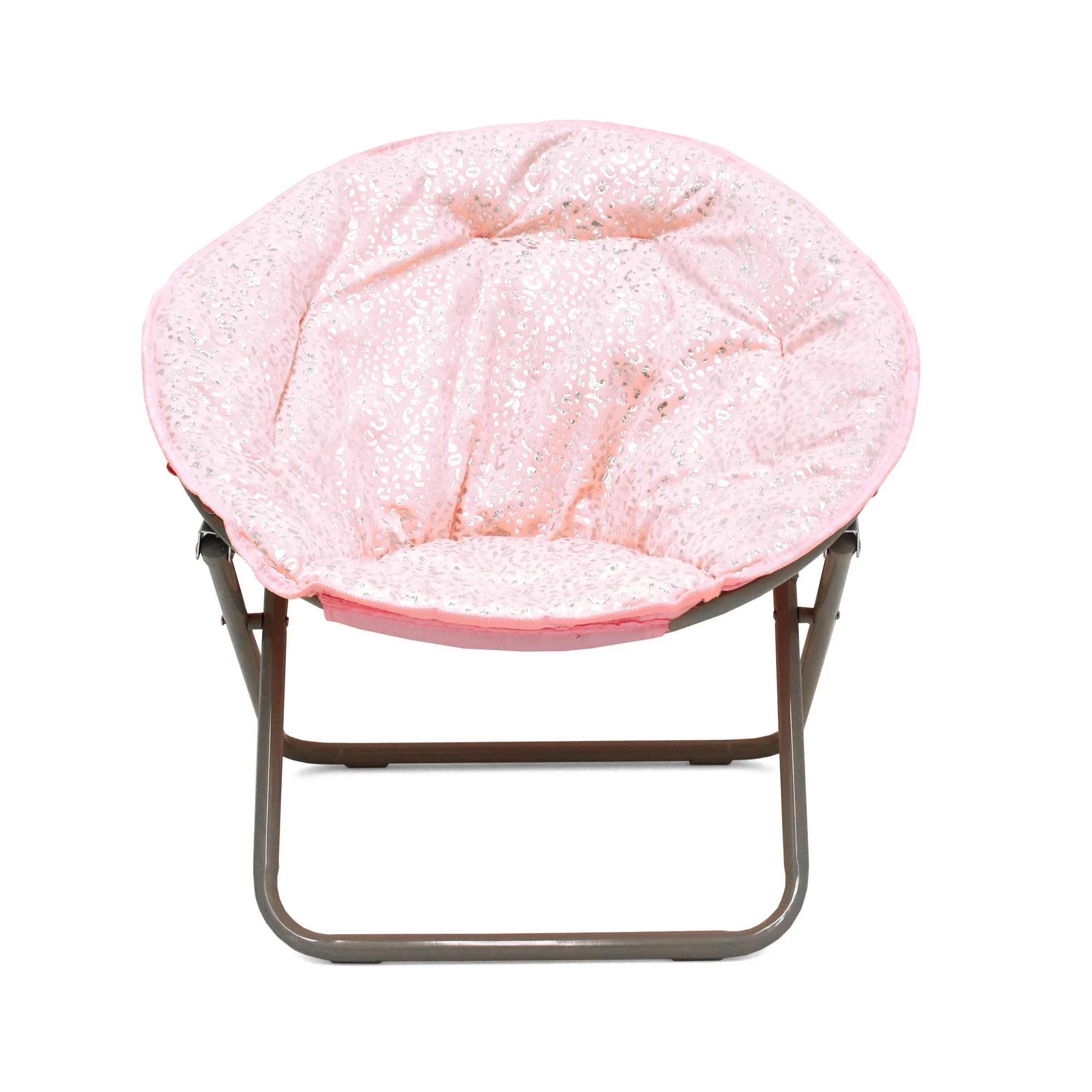 saucer chair for kids table and rental shop faux fur foil cheetah on sale free