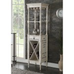 Shop Wooden Wine Cabinet With Spacious Wine Bottle Holder Antique White On Sale Overstock 25325455