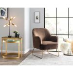 Shop Lumisource Daniella Contemporary Accent Chair With Sleigh Legs On Sale Overstock 25459469