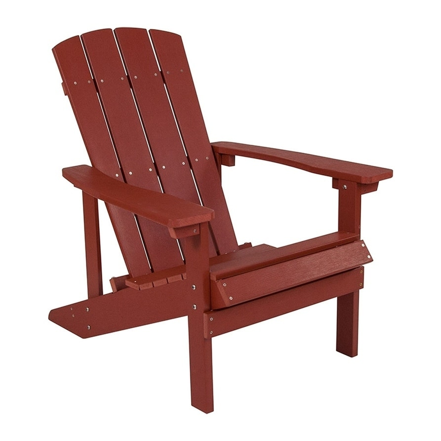 Red Patio Chairs Offex Cottage Style All Weather Adirondack Patio Chair In Red Faux Wood