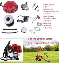 lawn mower fitting kit for honda gx240 gx270 recoil carburetor ignition coil approx 19 5 19 5 4 5cm [ 1010 x 1010 Pixel ]