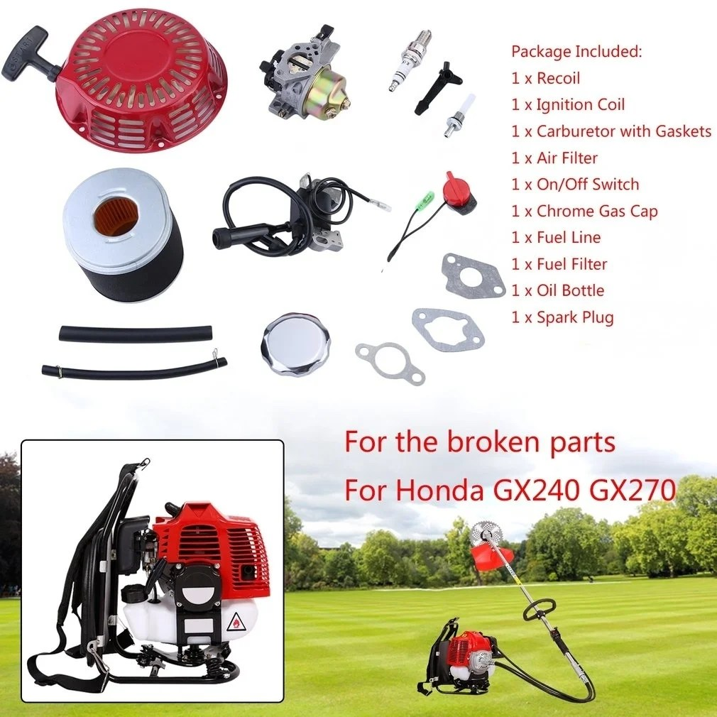 hight resolution of lawn mower fitting kit for honda gx240 gx270 recoil carburetor ignition coil approx 19 5 19 5 4 5cm