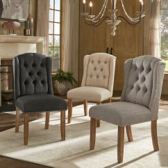 Tufted Nailhead Chair Fisher Price Toddler Table And Chairs Shop Nola Wingback Dining With Trim Set Of 2 By Inspire Q Artisan
