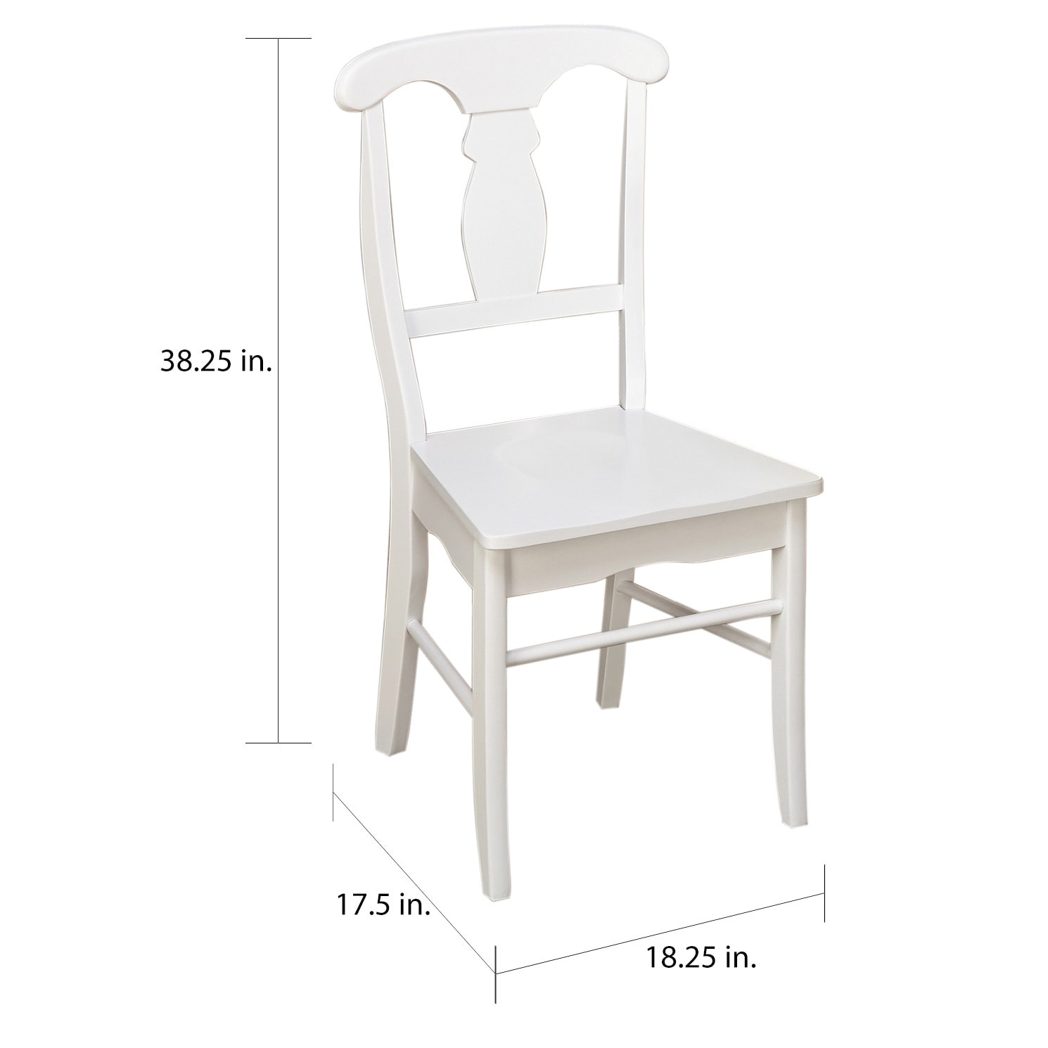 White Wooden Dining Chairs Simple Living Solid Wood Empire Dining Chairs Set Of 2