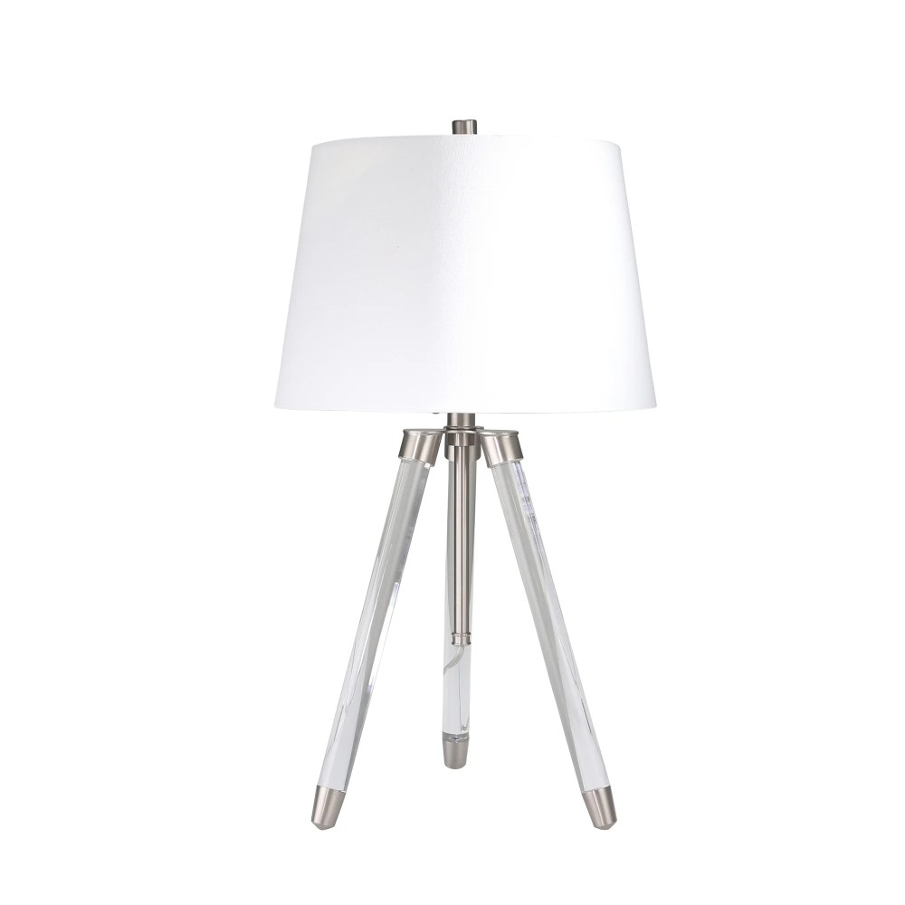 medium resolution of shop acrylic adjustable tripod table lamp clear silver 31 free shipping today overstock 25623379