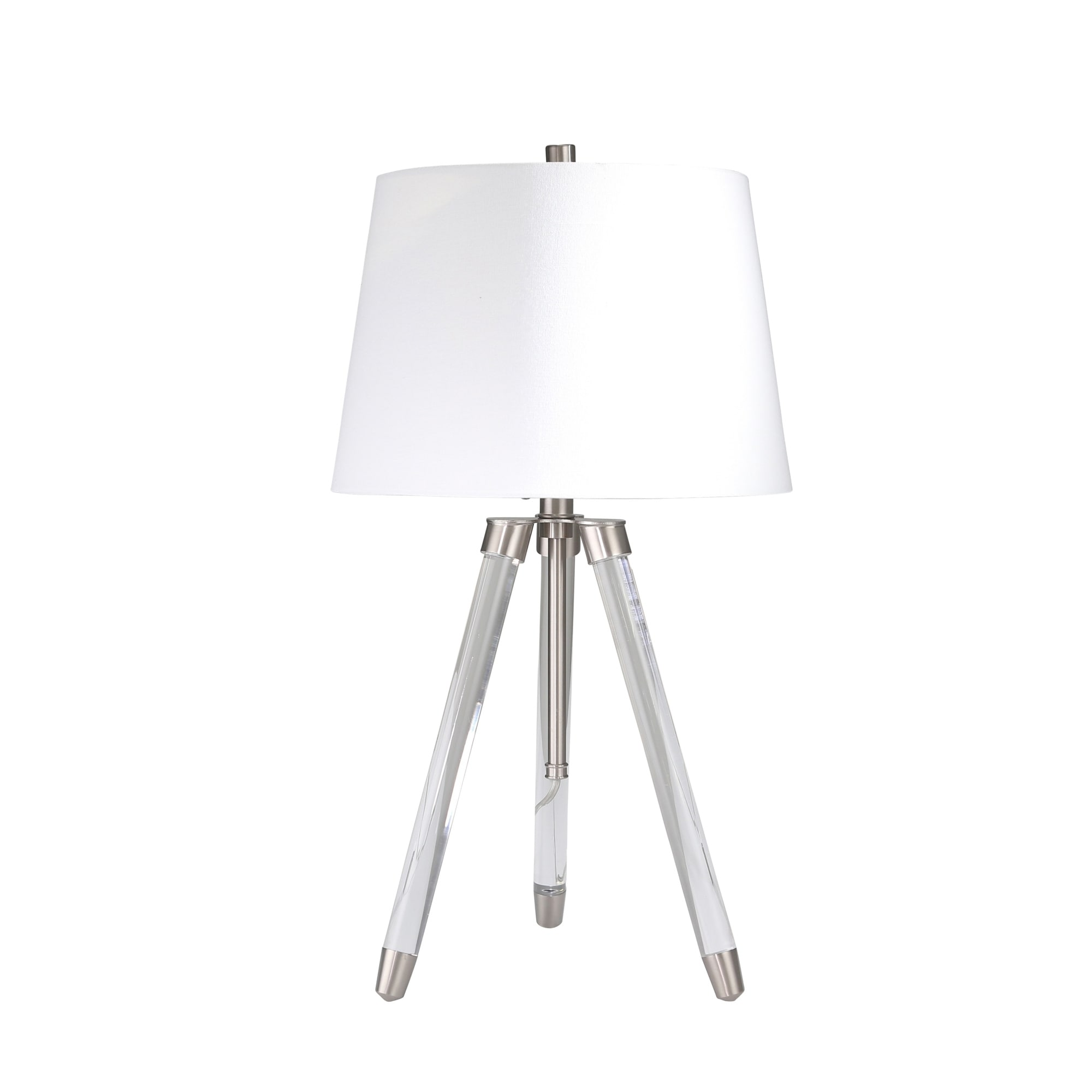 hight resolution of shop acrylic adjustable tripod table lamp clear silver 31 free shipping today overstock 25623379