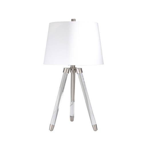 small resolution of shop acrylic adjustable tripod table lamp clear silver 31 free shipping today overstock 25623379