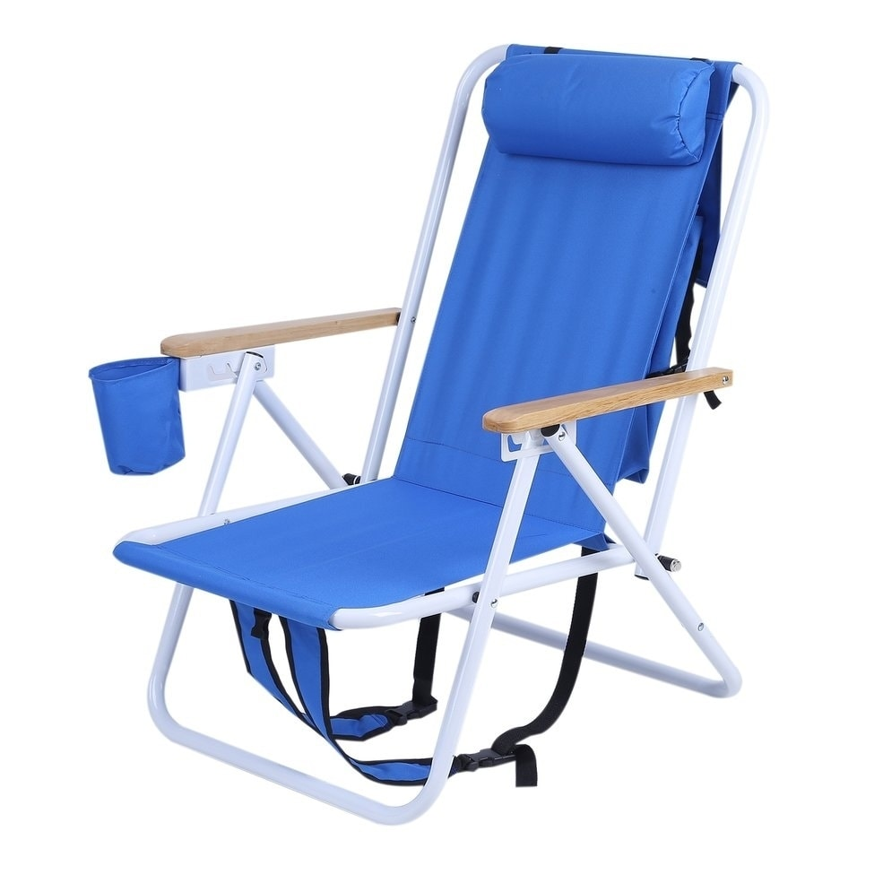 Folding Chair Backpack Folding Backpack Beach Chair With Cup Holder