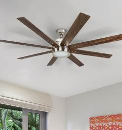 honeywell xerxes 62 brushed nickel led remote control ceiling fan 8 blade integrated light [ 1550 x 1550 Pixel ]