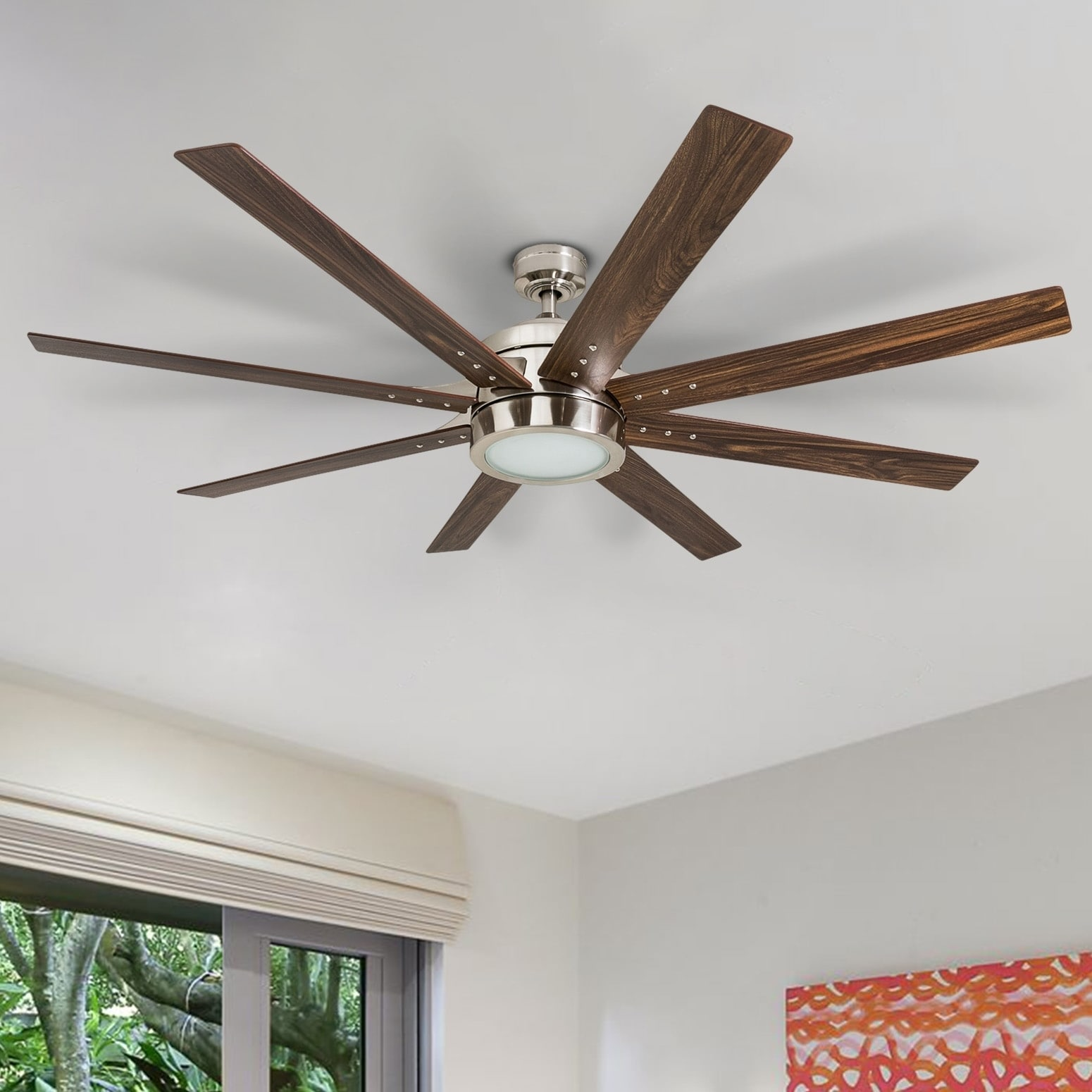 hight resolution of honeywell xerxes 62 brushed nickel led remote control ceiling fan 8 blade integrated light