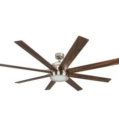 shop honeywell xerxes 62 brushed nickel led remote control ceiling fan 8 blade integrated light free shipping today overstock 25738545 [ 1500 x 1500 Pixel ]